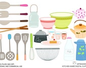 Kitchen ware Digital clip art for Personal and Commercial use - INSTANT DOWNLOAD