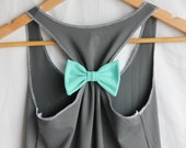 Attachable Bow - For a Racerback in Tiffany Blue