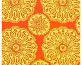 Tonal Kaleidoscope Orange from Gypsy Bandana by Pillow and Maxfield for Michael Miller Fabrics 1 yard