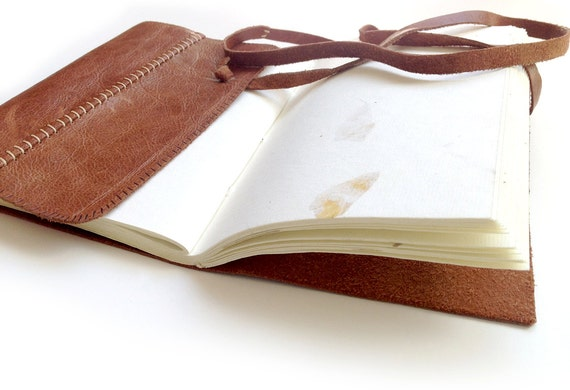Handmade Leather Journal Diary Notebook Sketchbook Book Handmade Paper