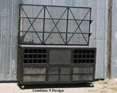 Vintage Industrial Liquor Cabinet/Bar. Urban, Loft Decor. Hutch, media console, bar cart, Mid Century Modern, credenza