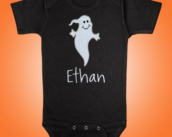 Ghost Bodysuit Shirt - Personalized Embroidered Applique - Short or Long Sleeved
