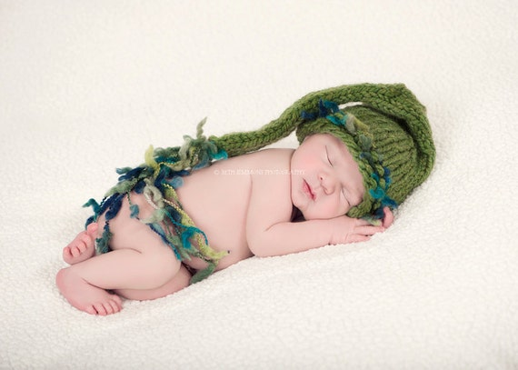 Baby Hat~Twins~Triplets~Chunky long tail hat ~Baby Girl~Baby Boy~Whimsical Hat~newborn photo prop