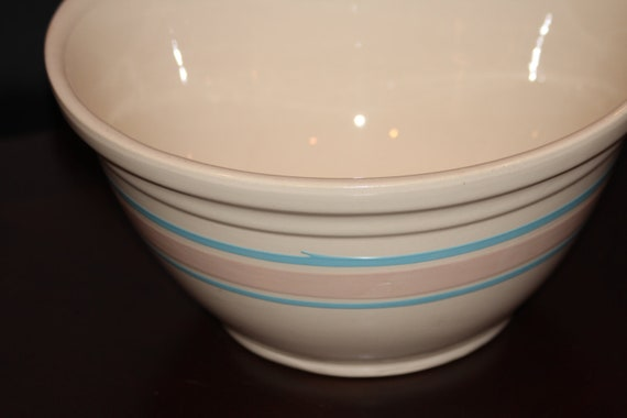 Vintage Large Ceramic Mixing Bowl Ovenware Usa 12