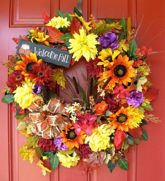 Welcome Fall Wreath, XLarge
