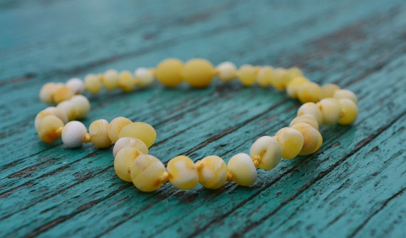 Raw Milky Baltic Amber Teething Necklace For By
