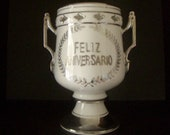 Anniversary Gift Spanish Anniversary Silver Urn Trophy Feliz Aniversario