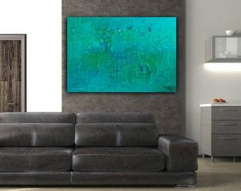 "Déjà Vu - Original Modern Abstract Contemporary Art Painting - Size: 48 x 36"" Acrylic on Canvas by A.J. Wesolek"