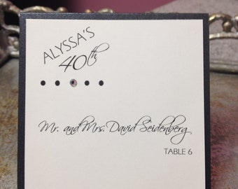 Placecards for ANY OCCASION - 1st Birthday, Sweet 16, Bat/Bar Mitzvah, Birthday, Wedding Anniversary