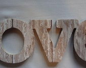 Personalized LOVE Sign - White Washed Barn Wood