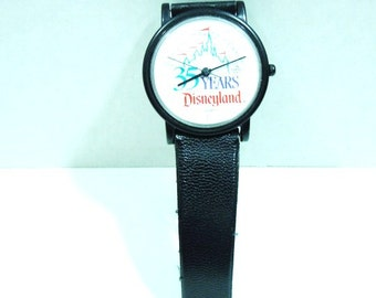 Vintage Disneyland Watch. 35 Years. 1980's to early 1990's Style. Fashion Statement. Gifts for Guys.