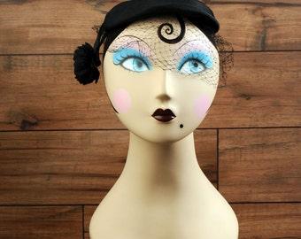 Vintage Valerie Modes Black Hat