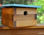 Modern Bird House - Tree Swallow No. 13  FREE SHIPPING