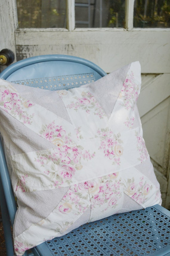 Shabby Chic Union Jack Pillow