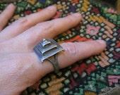 Vintage Tiered Tuareg Ring