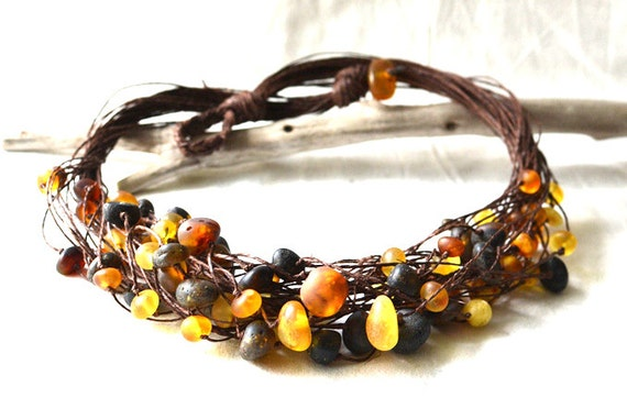 Natural Baltic Amber Necklace Raw Amber Eco Friendly Gift for Her Natural Jewelry
