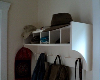 1214 Liv and Mick's Coat Rack With Cubbies