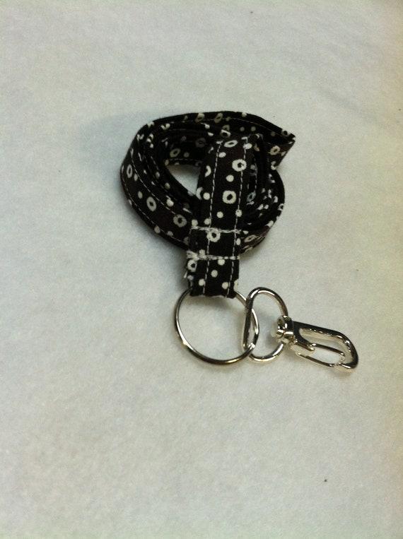 Lanyard, keychain, ID holder, badge clip, fabric lanyard, key fob