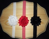 Set of 3 Shabby Frayed Flower Headbands