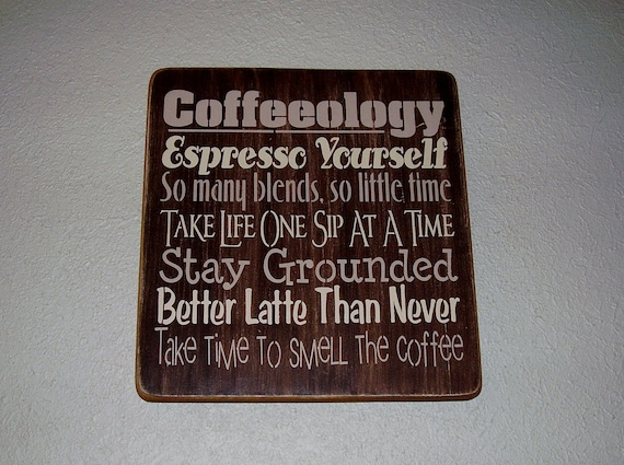 Coffeeology Subway/ Word Art Sign