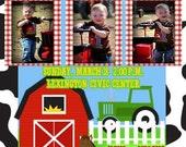Custom Personalized Photo Farm Animals Digital Birthday Invitation DIY Printing