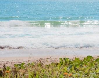 Beach wall art Ocean Waves photograph Digital Download Beach decor Water Photography blue sea wall art Coastal art
