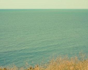 Ocean photograph Digital Download Beach wall art Beach decor Seashore print pale green sea photo ocean wall art