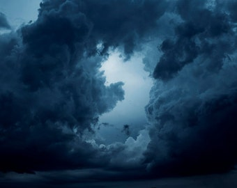 Storm Clouds photograph Digital Download Fine Art Photography dark clouds tempest image storm photo sky picture thunder clouds rain wall art