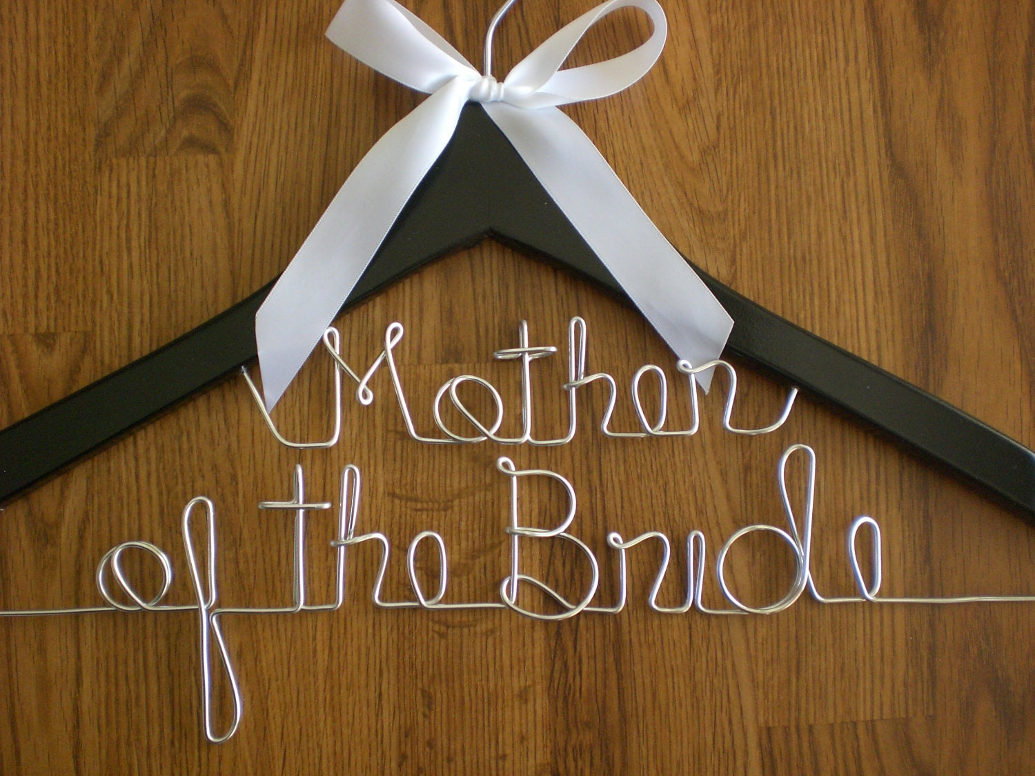 Personalized hangers mother of the bride personalized wedding for Personalised wedding dress hanger