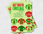 UGLY SWEATER Christmas Party INVITATION (print your own) Personalized Holiday Printable
