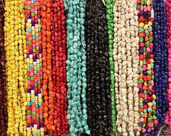 Magnesite Turquoise nugget beads, 12-18mm, medium size, irregular