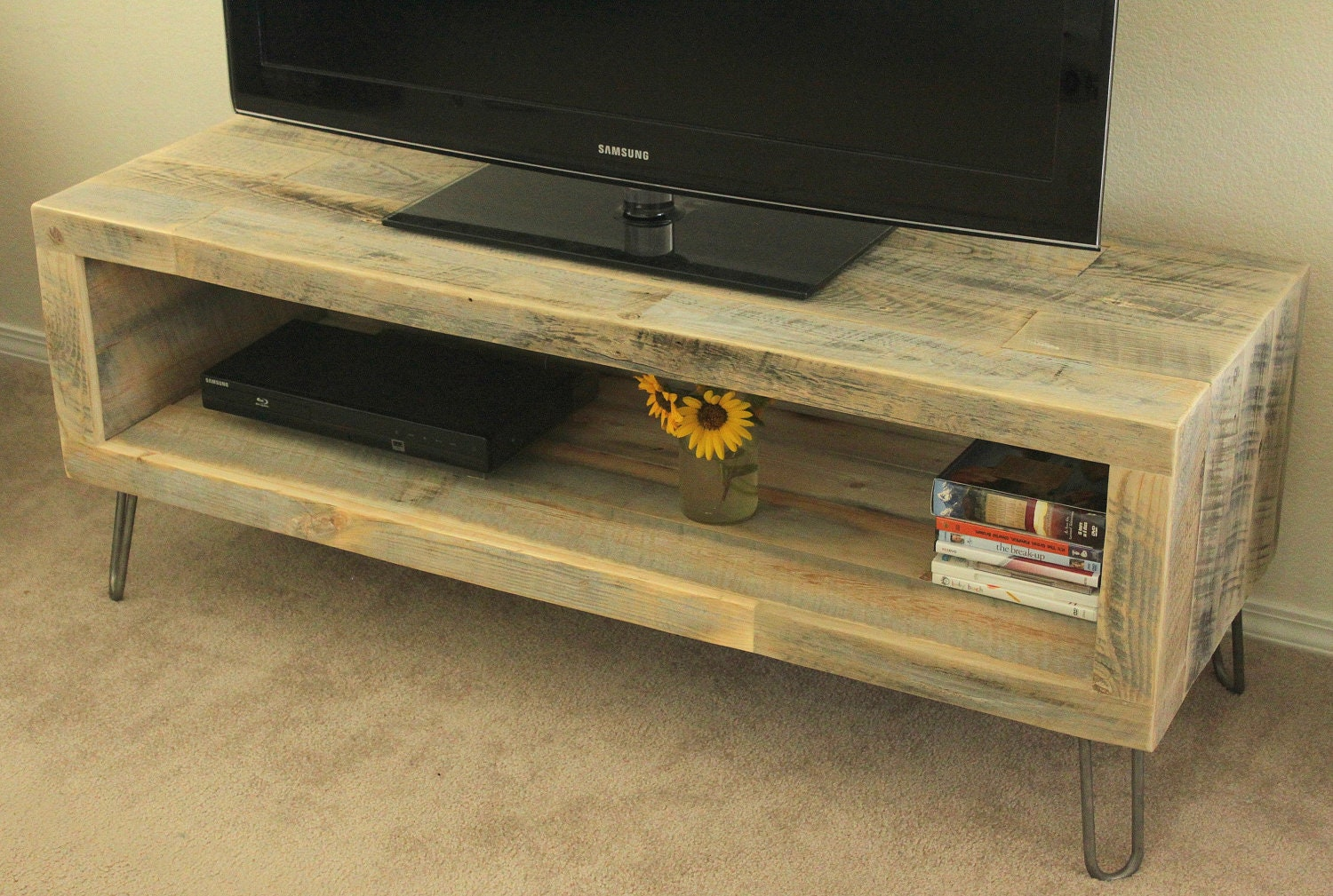 Reclaimed Wood Media Console / TV Stand 56 Long