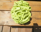 Handmade Shower/Bath Puff  Xtra Large and FREE Facial Scrubby