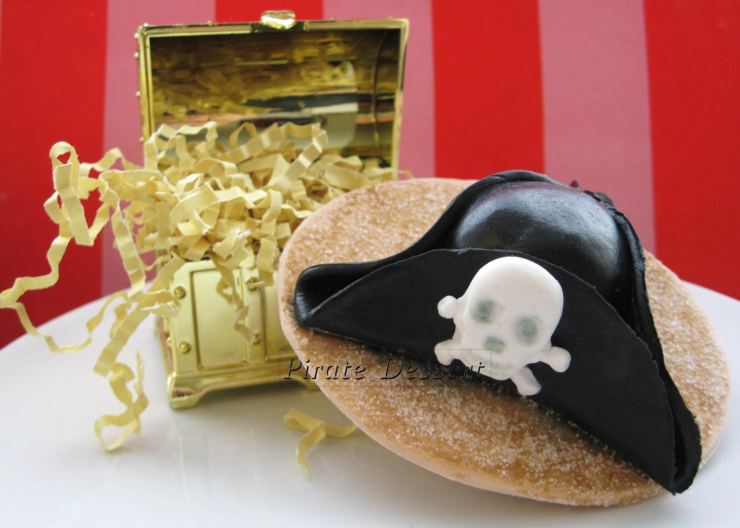 Edible Cake Topper Pirate Captain s Hat CAPTAIN JACK