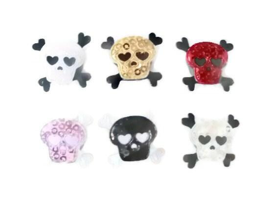 6 Piece Skull & Crossbone Locker Or Fridge Magnet Set