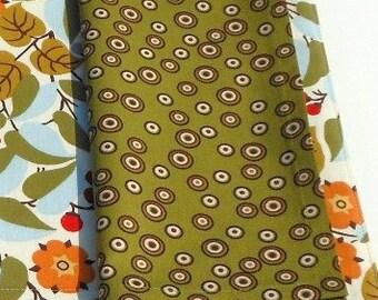 Olive Green Mod Circles Cloth Napkins - Set of 2