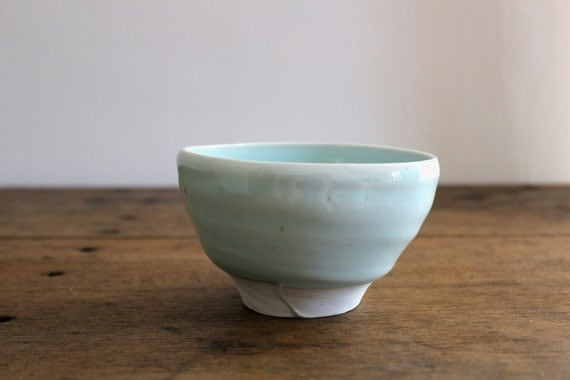 Rice Bowl. Porcelain with celadon glaze.