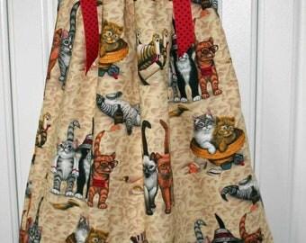 Cats on the Beach Pillowcase dress sizes, 4T, 5 & 6/7