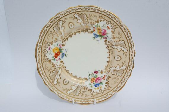 Reserved for BethVINTAGE Gold Lustre Cauldon Plate England, Floral and Gold Lustre Plate, English Tea Time