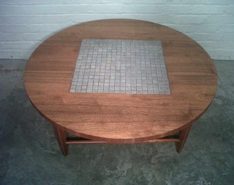 Mid-Century Modern Coffee Table / Cocktail Table w/ Tile Inset By Lane - Nice Mad Men / Eames Era Decor * SHIPPING NOT INCLUDED *