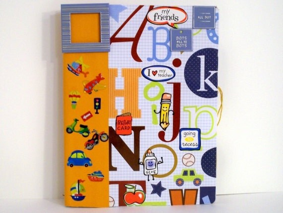 Notebook for Kids - Back to School Boys Note Book (Blue / Orange / Cars / Planes) - All Boy