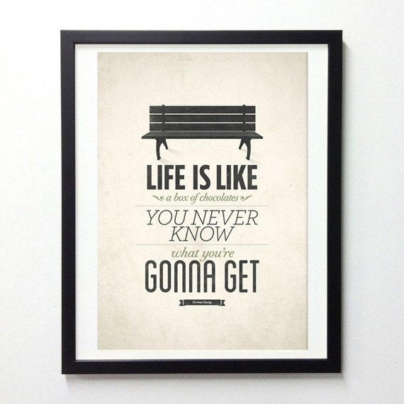 Forrest Gump Shrimp Quotes: Forrest Gump Poster Life Is Like A Box Of Chocolates Rustic