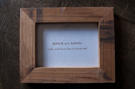 Reclaimed wood handmade picture frame