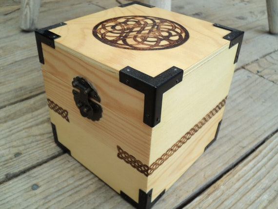 Wooden Celtic Knot Jewelry Box