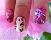 COMO LA FLOR Selena Quintanilla Tex Mex Goddess y Estrella nails
