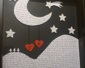 Personalized Wedding or Anniversary Gift - moon and the stars
