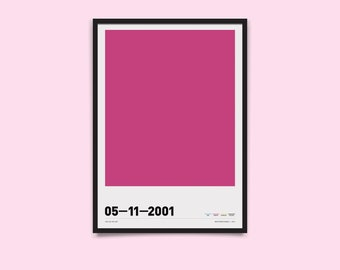 Hue are You? CMYK Personalised A3 Poster - Anniversary