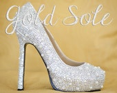 Crystal Wedding Shoes with Pearls