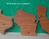 Custom States All 50 States are available Scroll Sawed