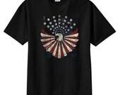 Distressed American Eagle Flag New T Shirt S M L XL 2X 3X 4X 5X